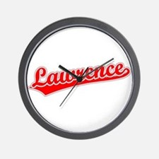 Retro Lawrence (Red) Wall Clock