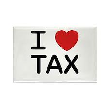 """I Love Tax"" Rectangle Magnet"