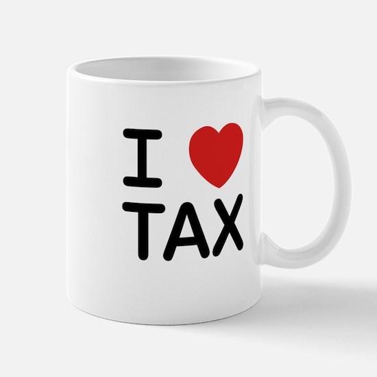 """I Love Tax"" Mug"