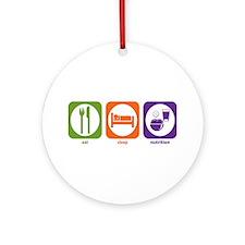 Eat Sleep Nutrition Ornament (Round)