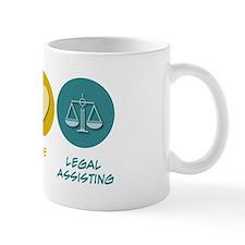 Peace Love Legal Assisting Small Mug