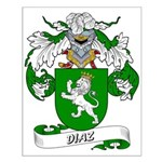 Diaz Family Crest Small Poster