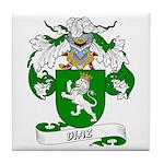 Diaz Family Crest Tile Coaster