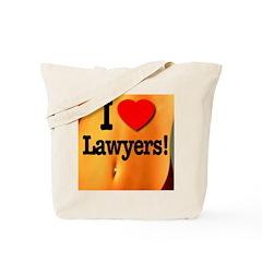 I Love Lawyers! Tote Bag