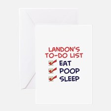 Landon's To-Do List Greeting Card