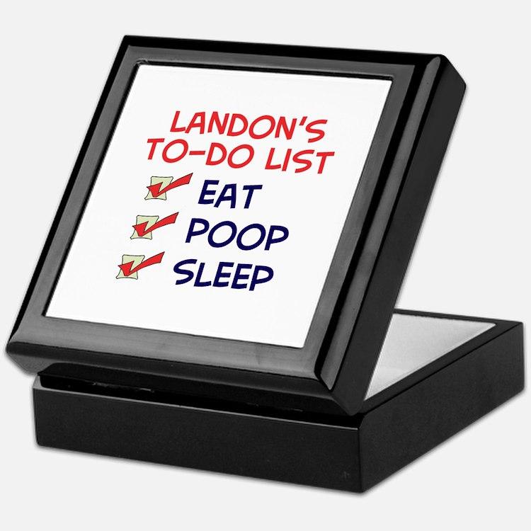 Landon's To-Do List Keepsake Box