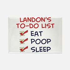 Landon's To-Do List Rectangle Magnet