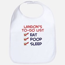 Landon's To-Do List Bib