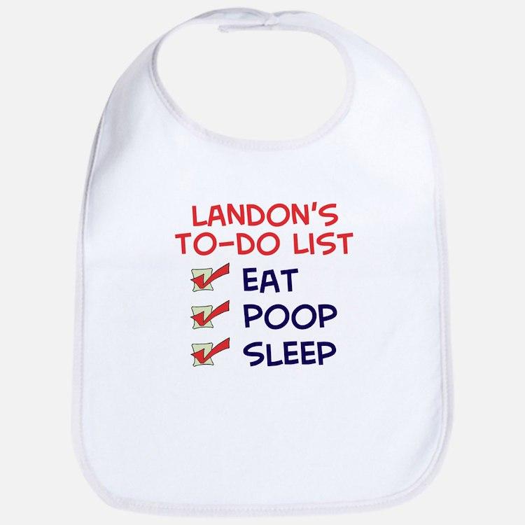 Landon's To-Do List Bib