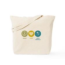 Peace Love Latin American Studies Tote Bag