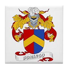 Domingo Family Crest Tile Coaster