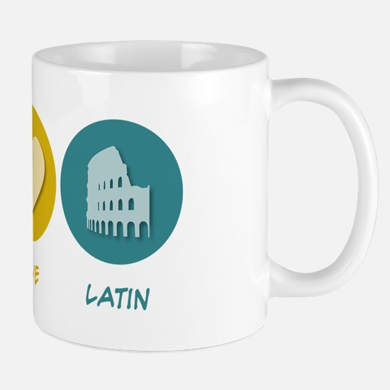 Peace Love Latin Mug