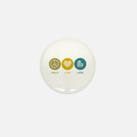 Peace Love Latin Mini Button (10 pack)