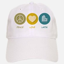 Peace Love Latin Baseball Baseball Cap