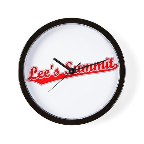 Retro Lee's Summit (Red) Wall Clock