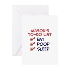 Mason's To-Do List Greeting Card