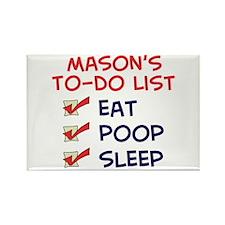 Mason's To-Do List Rectangle Magnet