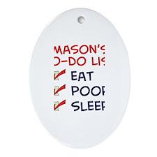 Mason's To-Do List Oval Ornament