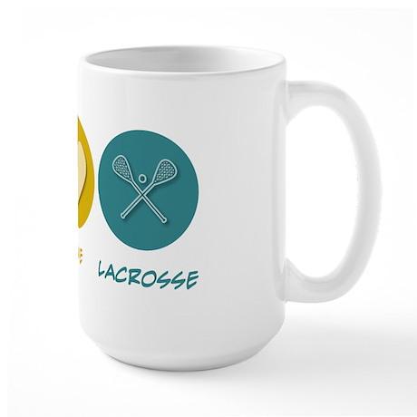 Peace Love Lacrosse Large Mug