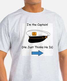 I'm the Captain Women's Ash Grey T-Shirt