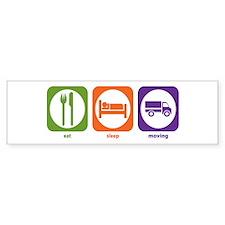 Eat Sleep Moving Bumper Bumper Sticker