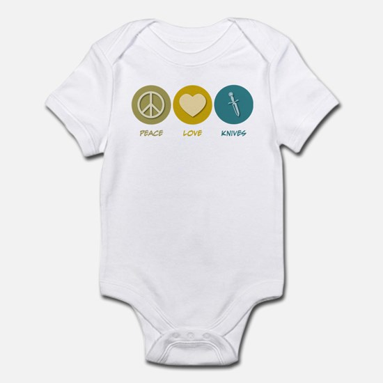 Peace Love Knives Infant Bodysuit