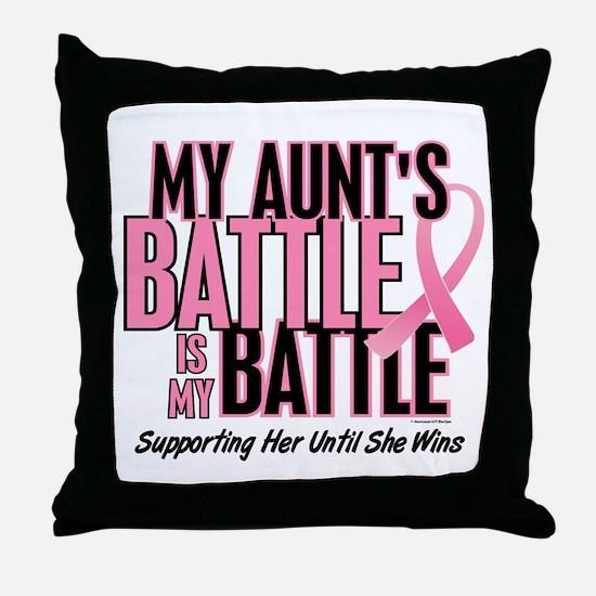 My Battle 1 (Aunt BC) Throw Pillow