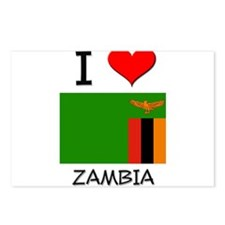 I Love Zambia Postcards (Package of 8)
