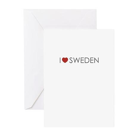 I <3 Sweden Greeting Cards (Pk of 20)