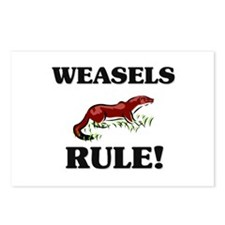 Weasels Rule! Postcards (Package of 8)