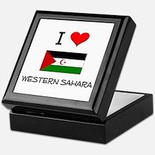 I Love Western Sahara Keepsake Box