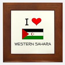 I Love Western Sahara Framed Tile