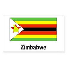 Zimbabwe Flag Rectangle Decal