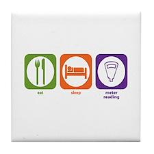 Eat Sleep Meter Reading Tile Coaster