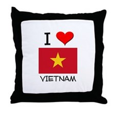 I Love Vietnam Throw Pillow