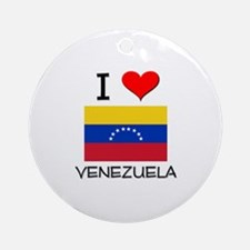 I Love Venezuela Ornament (Round)