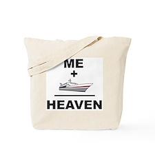 Me + Boat = Heaven Tote Bag