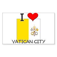 I Love Vatican City Rectangle Decal