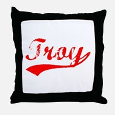 Vintage Troy (Red) Throw Pillow