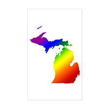 Michigan Gay Pride Rectangle Decal