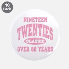 """1920's Classic Pink 3.5"""" Button (10 pack)"""