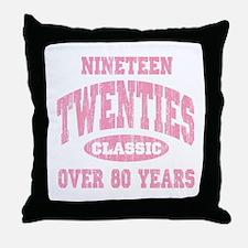 1920's Classic Pink Throw Pillow