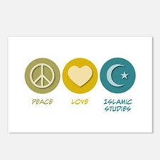 Peace Love Islamic Studies Postcards (Package of 8