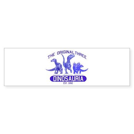 Blue Dinosauria Bumper Sticker