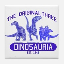 Blue Dinosauria Tile Coaster