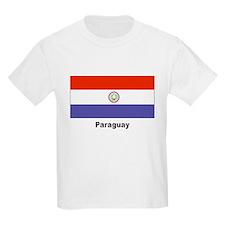 Paraguay Flag (Front) Kids T-Shirt