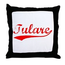 Vintage Tulare (Red) Throw Pillow