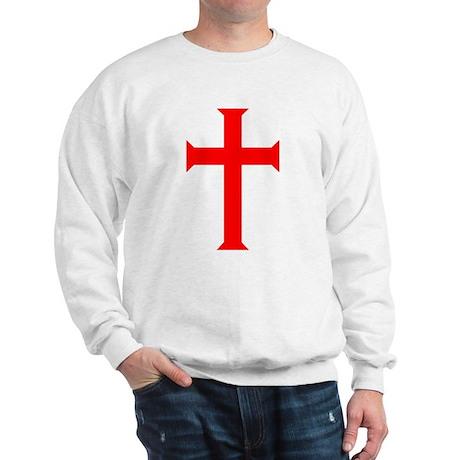 Red Cross/White Background Sweatshirt