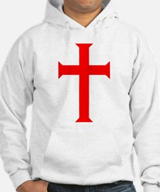 Red Cross/White Background Hoodie