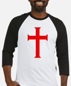 Red Cross/White Background Baseball Jersey
